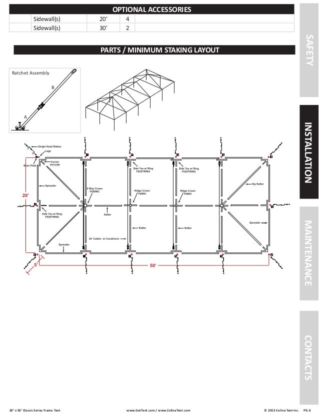 20 x 50 Frame Tent Installation Instructions