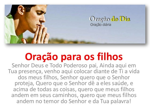 Oração Para Os Filhos
