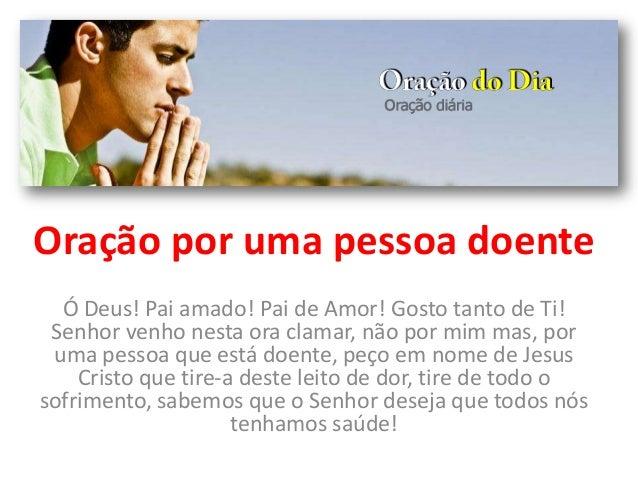 Oração Por Uma Pessoa Doente