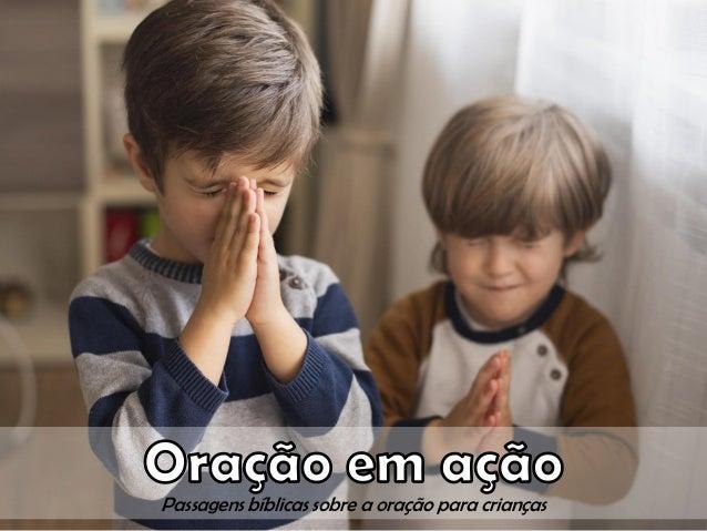 Passagens bíblicas sobre a oração para crianças