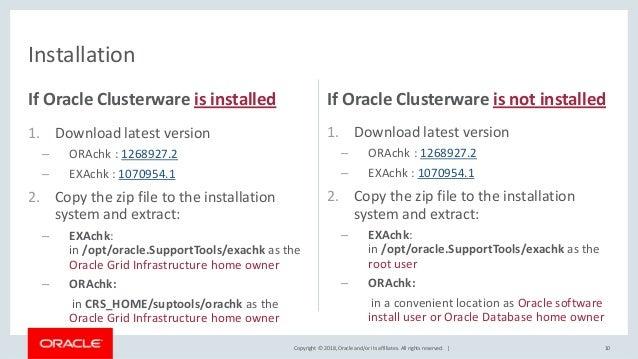 Oracle ORAchk & EXAchk overview