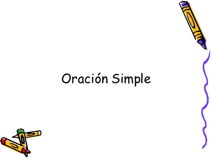 Oración Simple