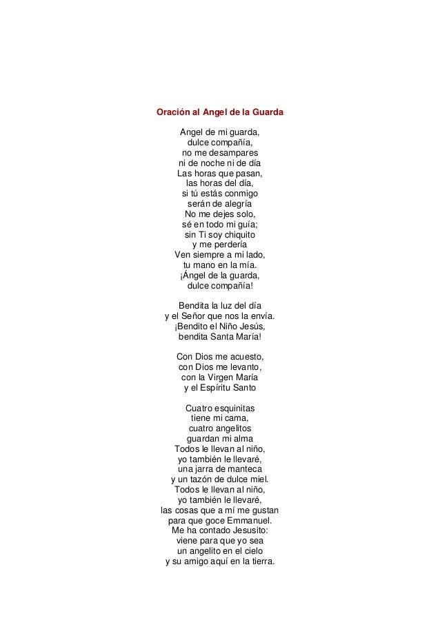 Oración Al Angel De La Guarda