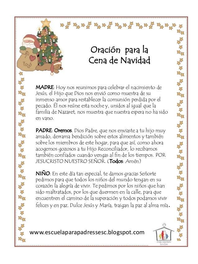 MADRE: Hoy nos reunimos para celebrar el nacimiento de Jesús, el Hijo que Dios nos envió como muestra de su inmenso amor p...