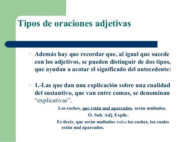5 Ejemplos De Oraciones Subordinadas Adjetivas Colección De Ejemplo