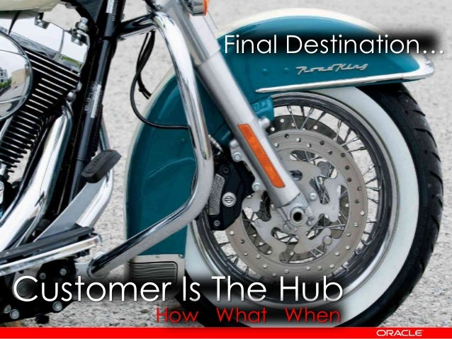 Customer Is The Hub Final Destination… How What When
