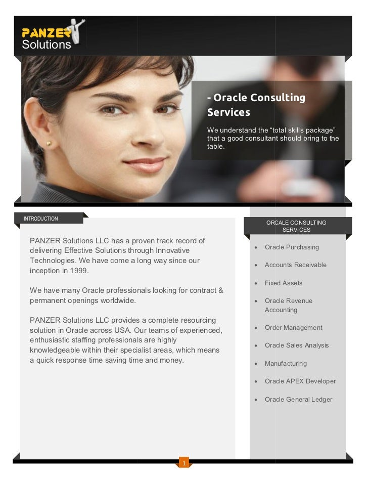 PANZERSolutions                                                      - Oracle Consulting                                  ...