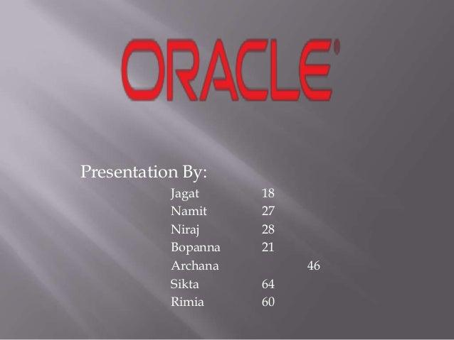 Presentation By: Jagat 18 Namit 27 Niraj 28 Bopanna 21 Archana 46 Sikta 64 Rimia 60