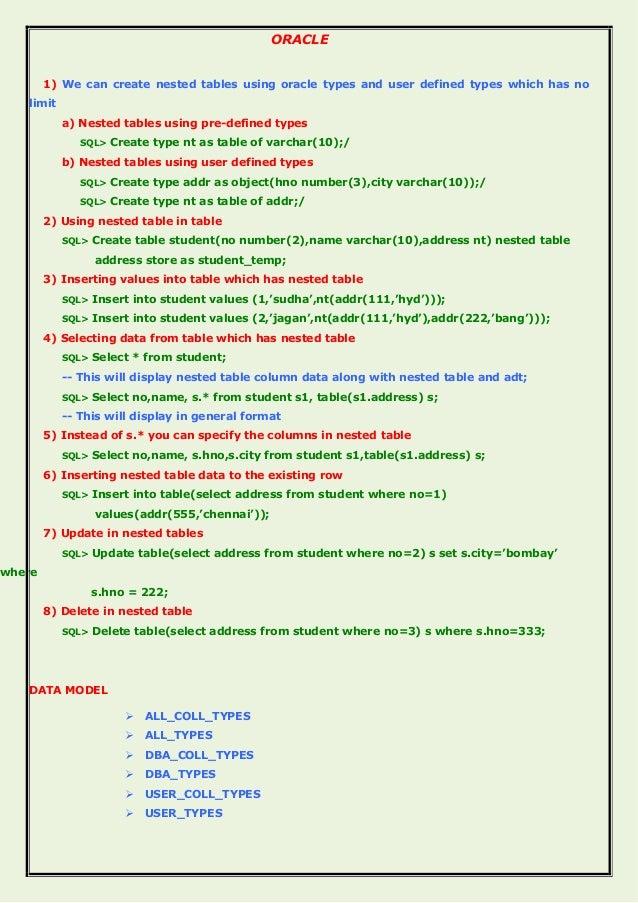 Delightful Update Table Set Oracle Part - 2: ORACLE ...