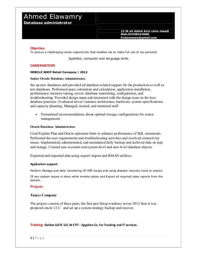 Oracle dba-updateahmed-elawamry