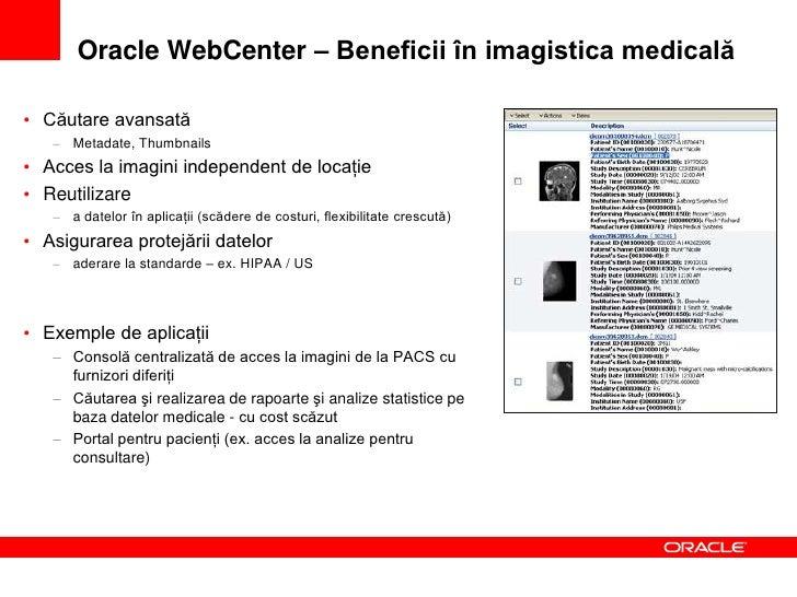 Sumar – Viitorul imagisticii medicale      Nivel de prezentare multiplatformă   •Portaluri clinice –                      ...