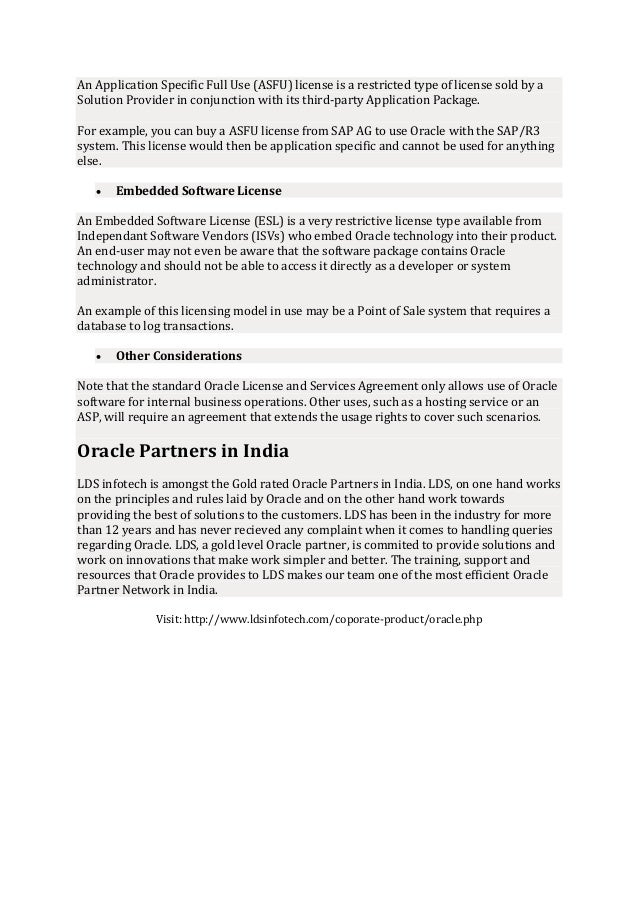 Oracle Partners In India