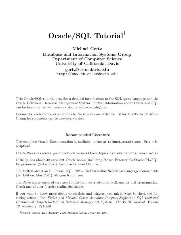 oracle sql tutorial rh slideshare net oracle advanced pl/sql developer professional guide pdf free download oracle advanced pl/sql developer professional guide pdf