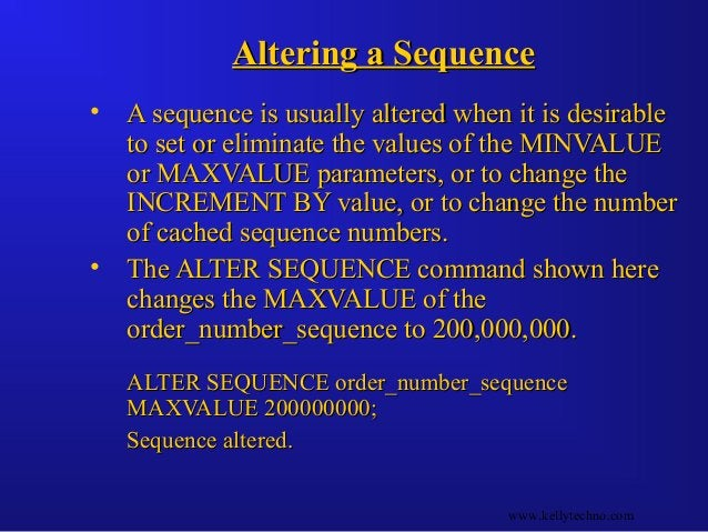 Altering a SequenceAltering a Sequence • A sequence is usually altered when it is desirableA sequence is usually altered w...