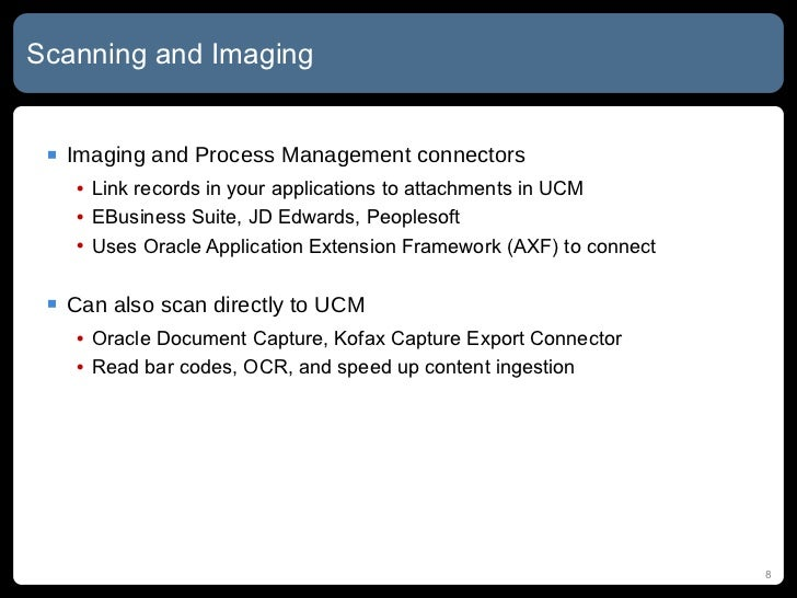 Oracle UCM Implementation Patterns