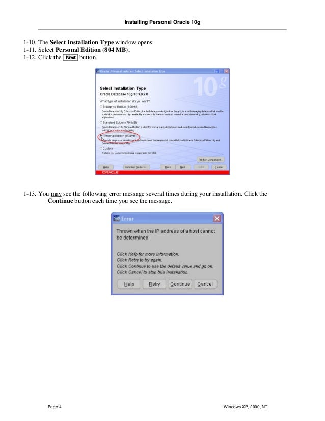 oracle database installation guide for windows