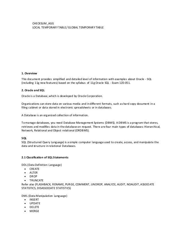 sc 1 st  SlideShare & Oracle 11g SQL Overview