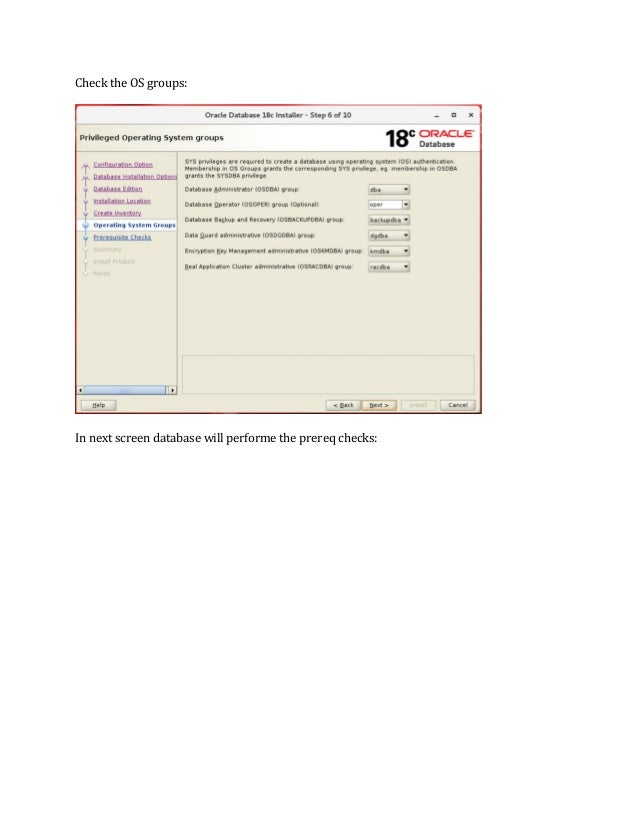 Oracle 18c Installation Steps On Linux