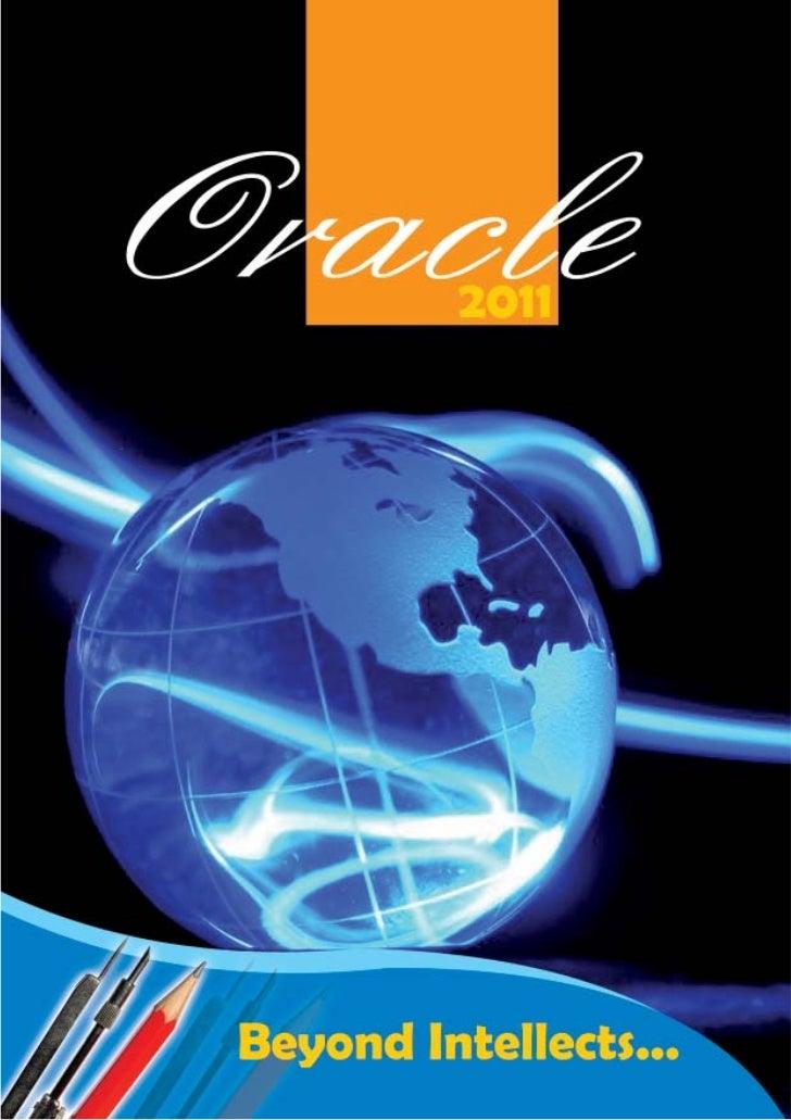 Oracle Editorial Committee                         Prakrit Nepal                    (Chief Editor & Designer)    Aayush Ba...