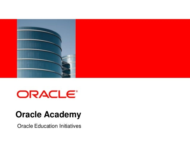 Oracle Academy semester 1 Final exam answers