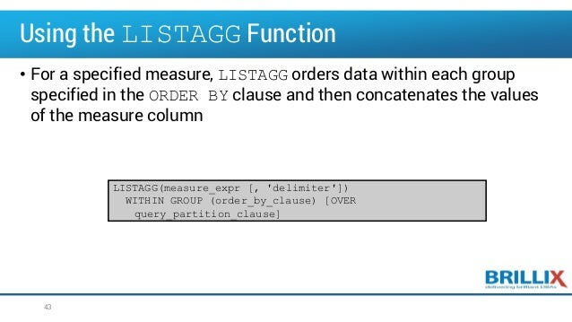 Oracle Advanced SQL and Analytic Functions