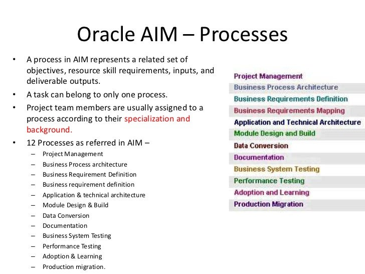 Oracle Aim Methodology