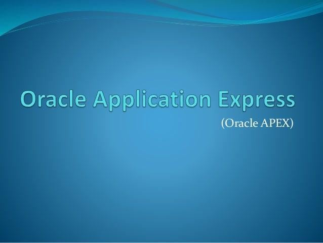 (Oracle APEX)
