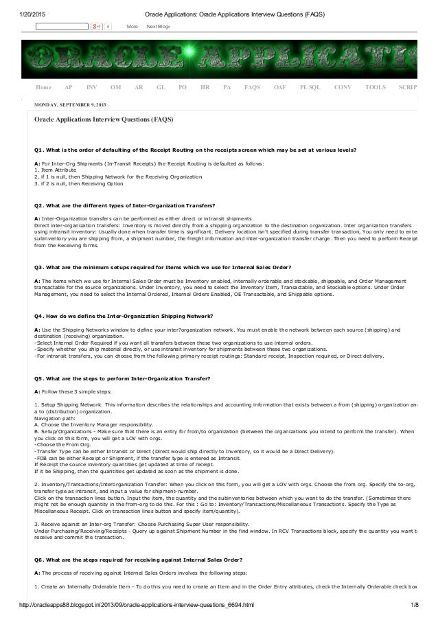 Oracle applications oracle applications interview questions
