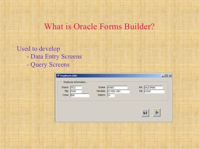 Oracle Apps - Forms