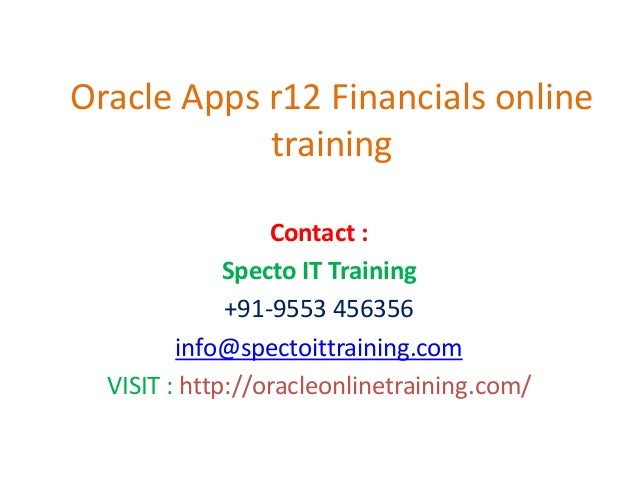 oracle apps r12 financials