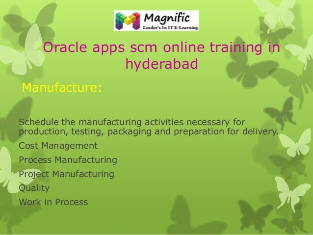 Oracle Apps Scm Modules And Tutorials