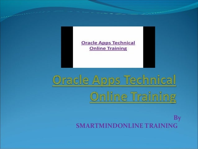 By SMARTMINDONLINE TRAINING