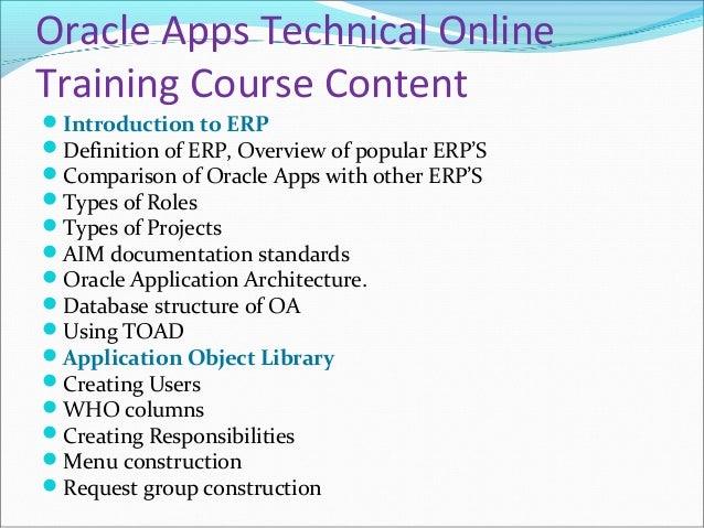 Oracle Apps Technical Online Training in USA, UK, Australia. Slide 2