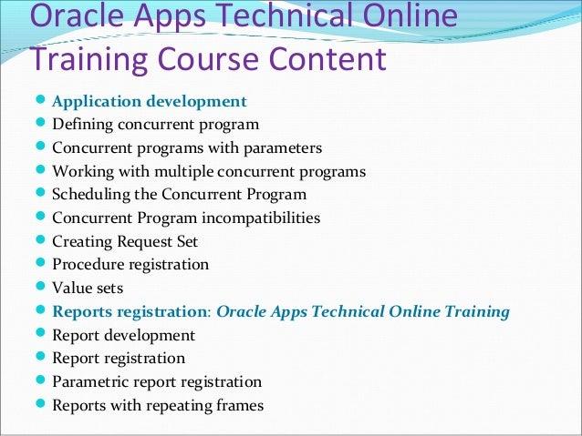Oracle Apps Technical Online Training in USA, UK, Australia. Slide 3