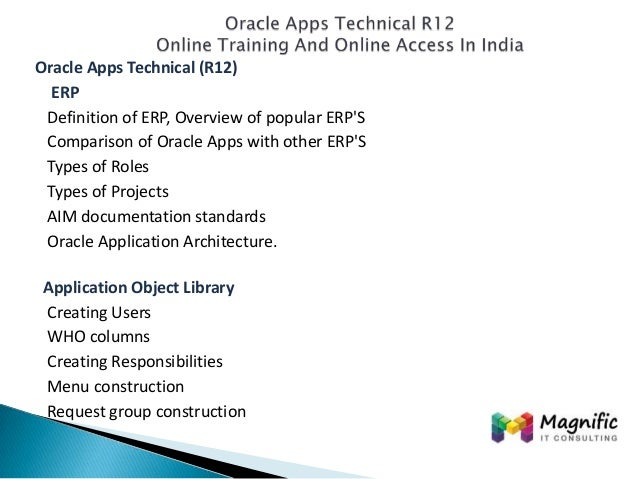 Oracle Apps Technical R12 Online Documentation Training Support-Magni…