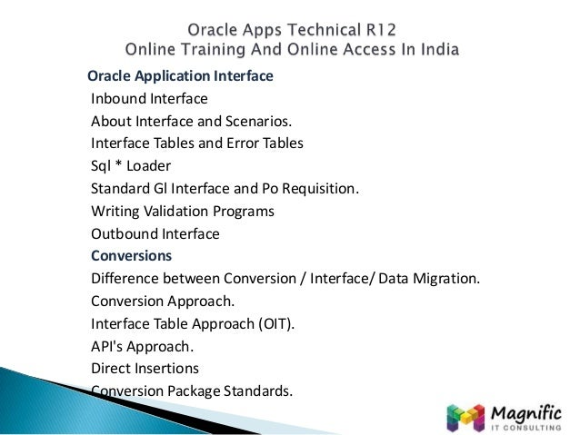 oracle apps technical r12 online documentation training