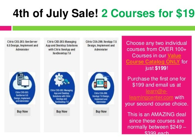 Choose any two individual courses from OVER 100+ Courses in our Value Course Catalog ONLY for just $199! Purchase the firs...