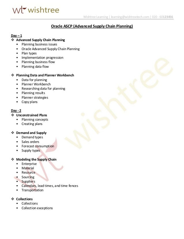 Oracle ascp advanced supply chain planning supply chain planning wishtree learning learningwishtreetech 020 60123456 oracle ascp advanced publicscrutiny Images