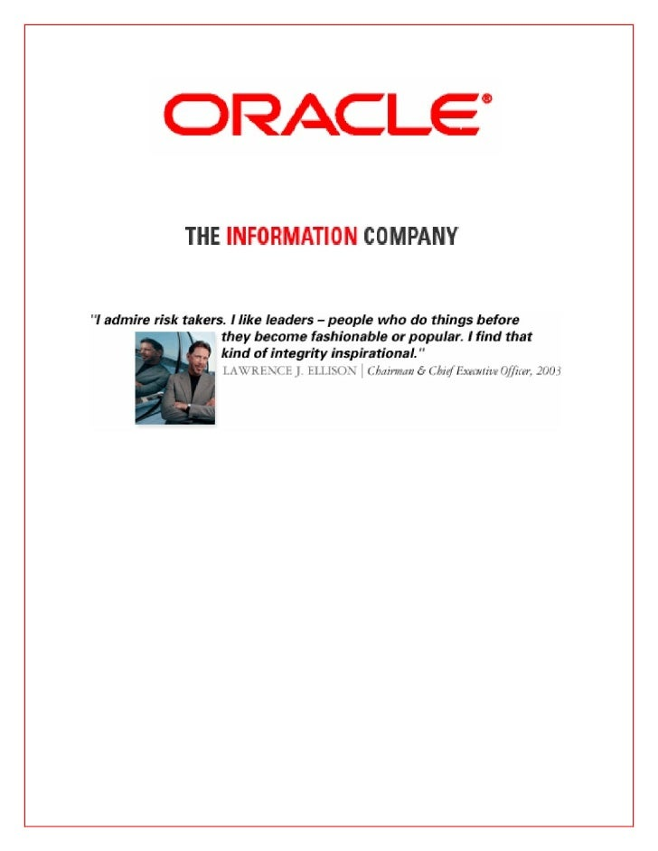 Oracle Business Strategy