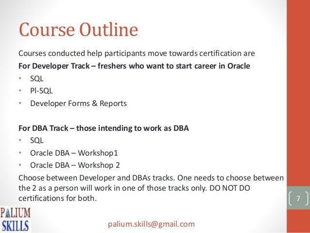 Oracle certification process details