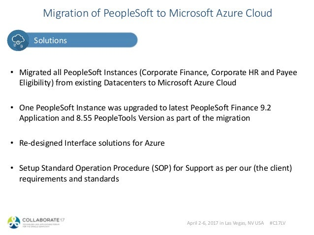 Azure Skies for PeopleSoft on the Cloud