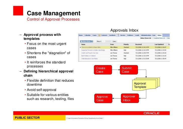Oracle CRM Case Management