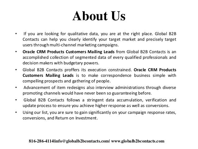 About Us • If you are looking for qualitative data, you are at the right place. Global B2B Contacts can help you clearly i...