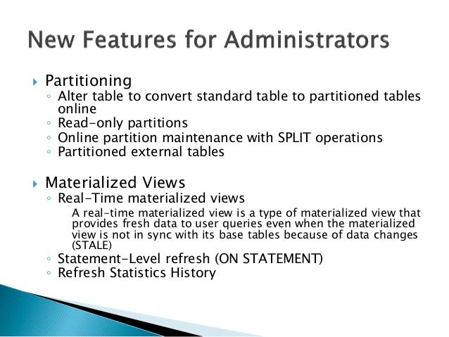 Oracle Database 12 2 New Features