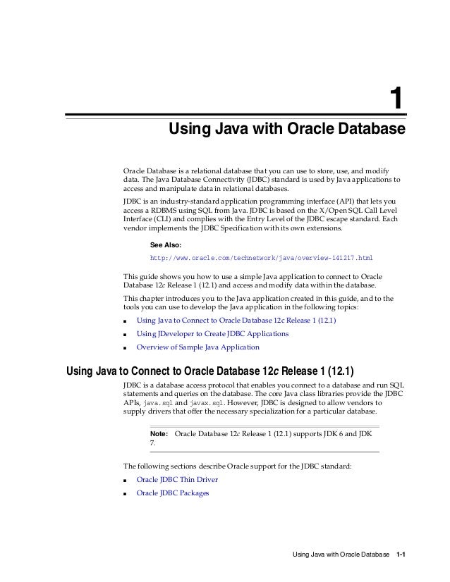 oracle database 12c 2 day java developer s guide rh slideshare net Java Meme Java Icon