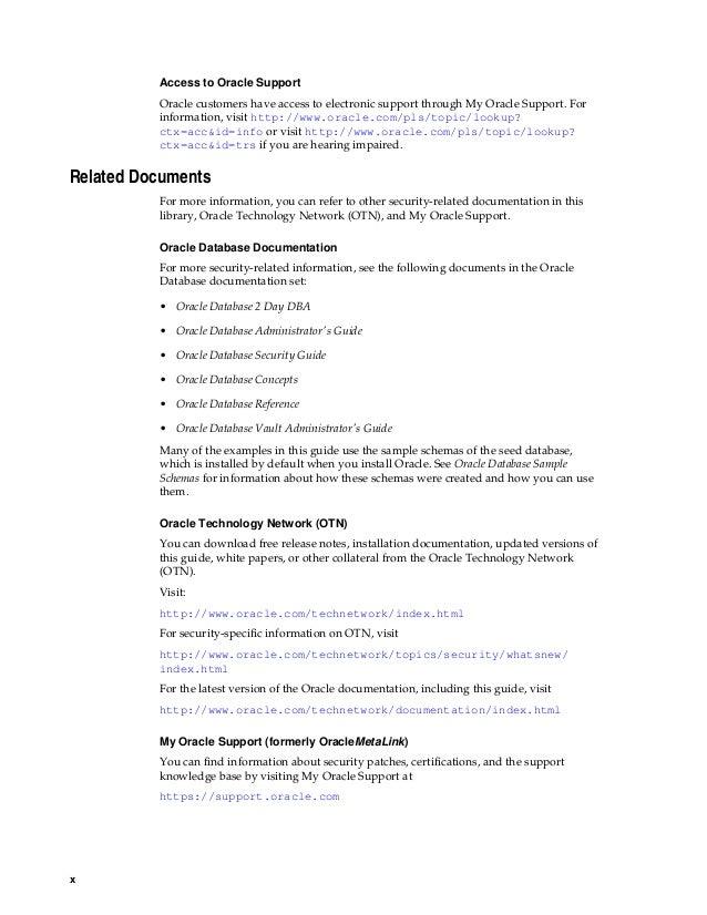 Oracle 12c documentation