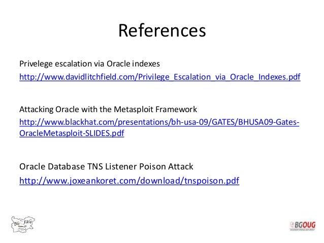 Oracle Database 12c Attack Vectors