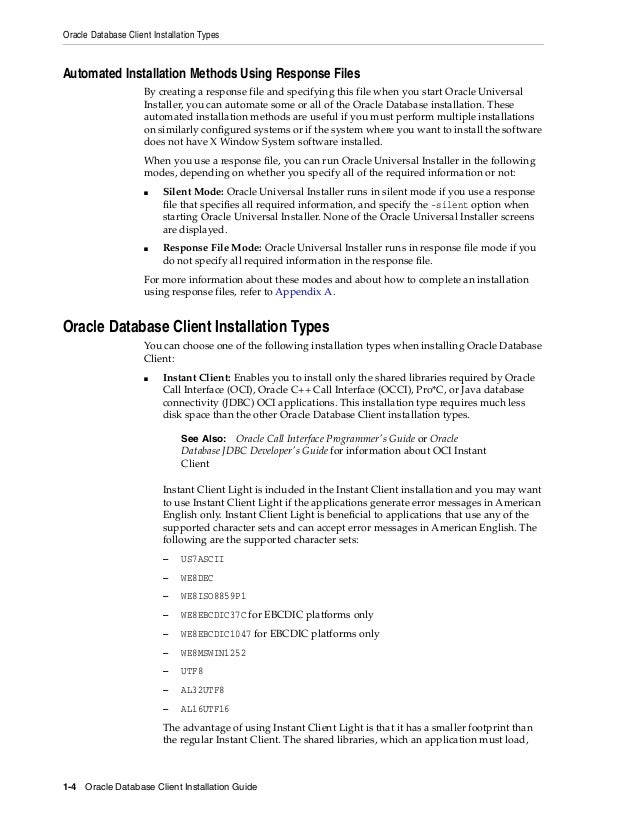 Oracle database 12c client installation guide