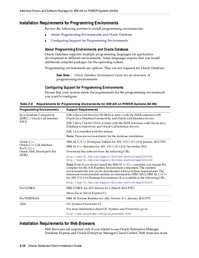 oracle linux installer c compilateur