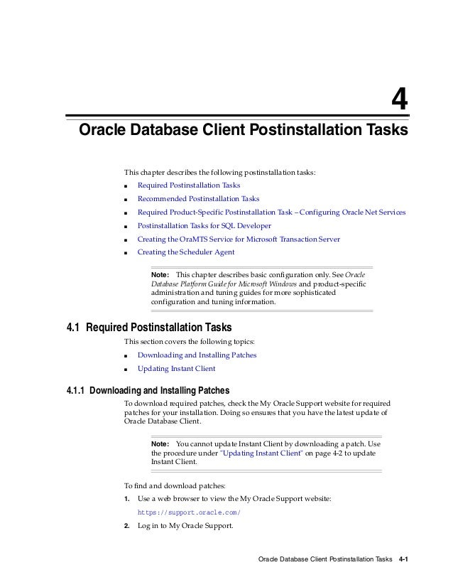 Oracle database 12c client installation overview